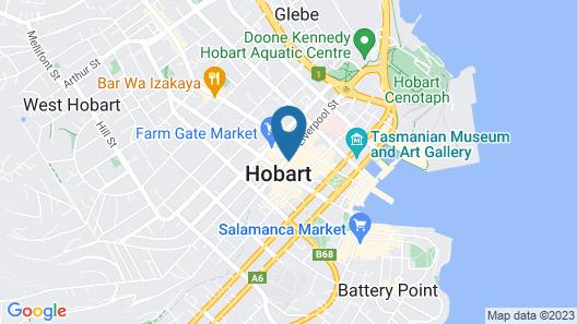 Crowne Plaza Hobart Map