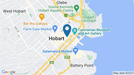 Mövenpick Hotel Hobart Map