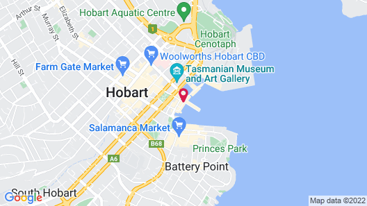 Somerset on the Pier Hobart Map