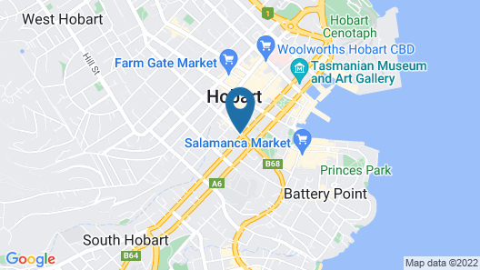 Travelodge Hotel Hobart Map