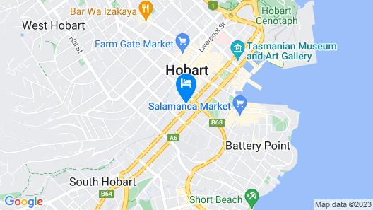 ibis Styles Hobart Map