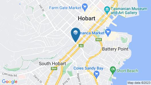 Hobart Cityscape Map