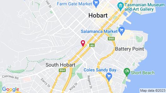 City Retreat Hobart Map