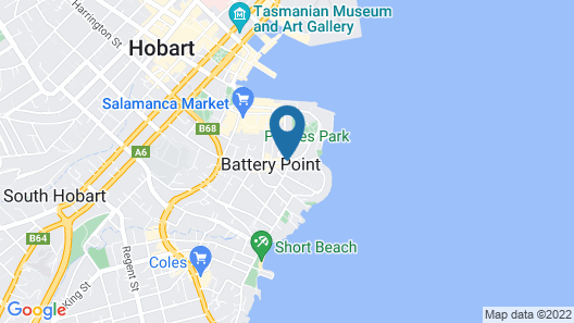 Battery Point Boutique Accommodation Map