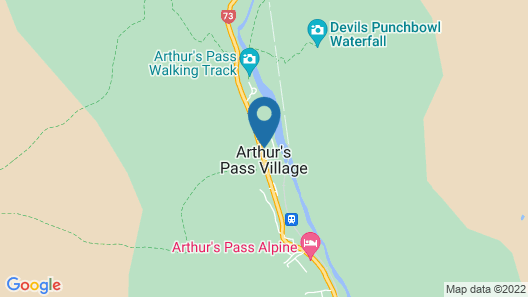Arthurs Pass Motel and Lodge Map