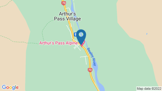 Arthur's Pass Alpine Motel Map