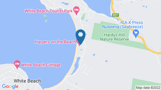 Harpers on the Beach Map