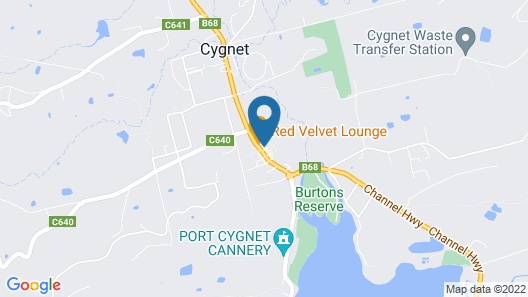 Cygnet Old Bank B & B Cafe & Gift Store Map