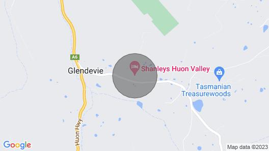 Shanleys Huon Valley Map