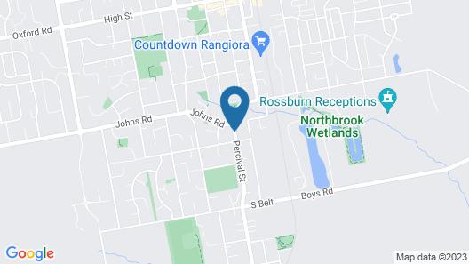 Lilybrook Rangiora Motel Map