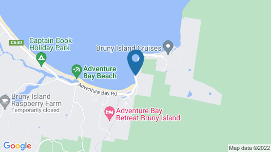 43 Degrees Bruny Island Map