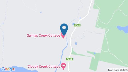 Saintys Creek Cottage Map