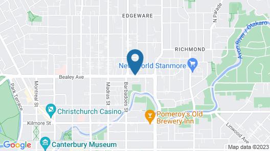 Avalon Court Accommodation Map