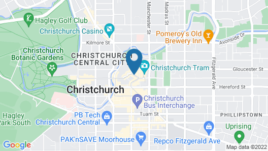 Novotel Christchurch Cathedral Square Map