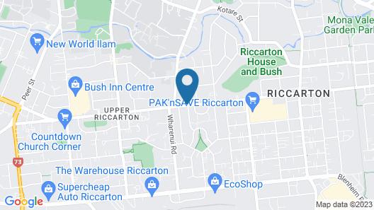 Riccarton Motor Lodge Map