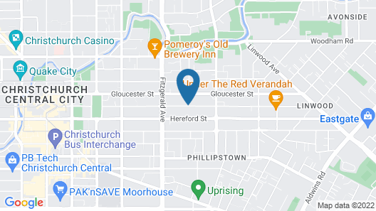 City Worcester Motel Map