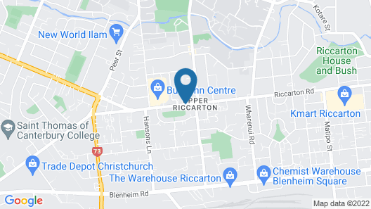 315 Motel Riccarton Map