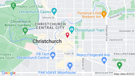 Distinction Christchurch Hotel Map