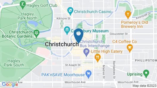 ibis Christchurch Map