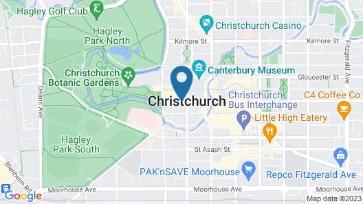 YHA Christchurch Map