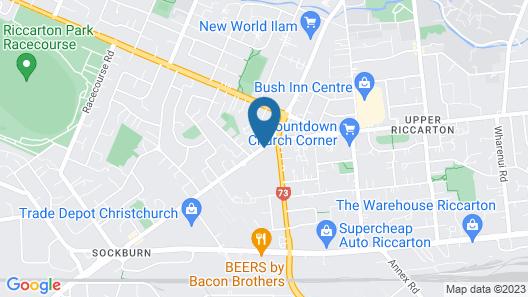 Bush Inn Court Motel Map