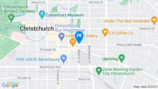 Ramada Suites Christchurch City Map