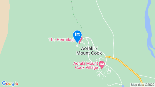 The Hermitage Hotel Mount Cook Map