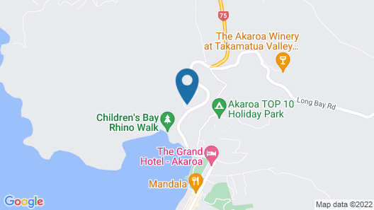 Akaroa Cottages Heritage Boutique Collection Map