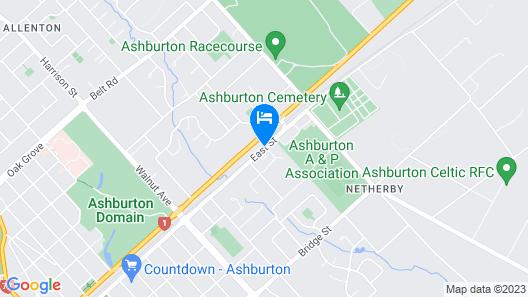 Ashburton's Regency Motel Map