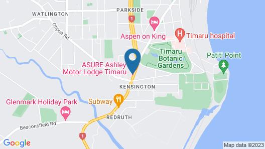 Asure Ashley Motor Lodge Map