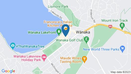 Bella Vista Motel Wanaka Map