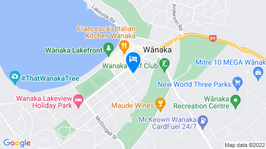 Clearbrook Motels Wanaka Map