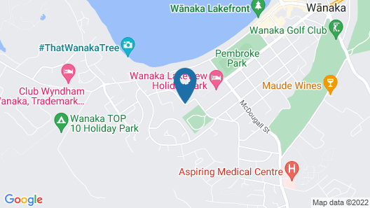 Wanaka Luxury Apartments Map