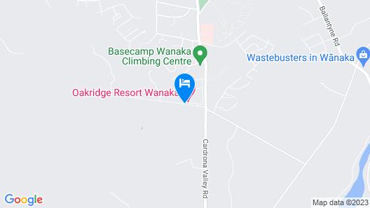 Oakridge Resort Lake Wanaka Map