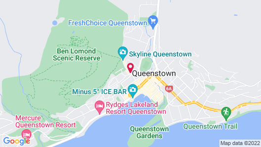 Queenstown Lakeview Holiday Park Map