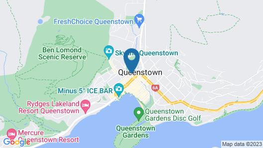 JUCY Snooze Queenstown Map