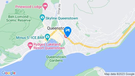 Scenic Suites Queenstown Map
