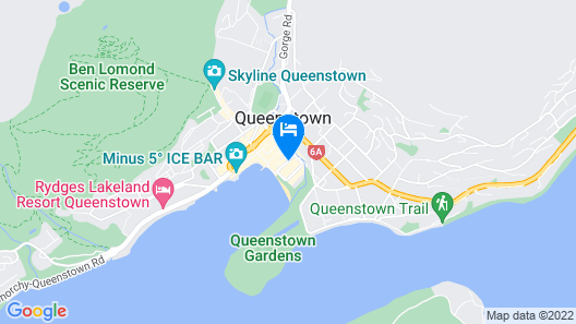 Nomads Queenstown Backpackers Map