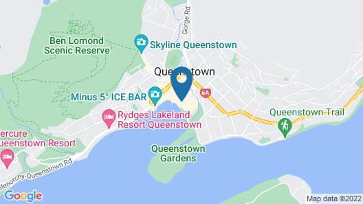 The Spire Hotel Queenstown Map