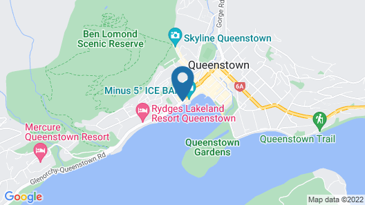 Crowne Plaza Hotel Queenstown Map