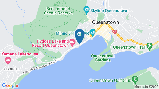 Lakeside Motel - Queenstown Map