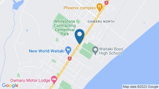 Avenue Motel Oamaru Map