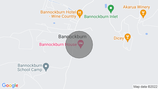 The Cottage at Bannockburn House Map