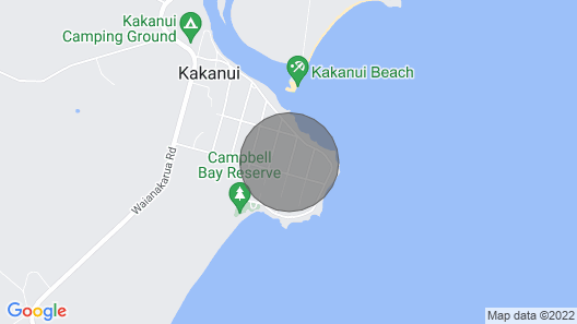 Kakanui Bach With Views of the sea Map