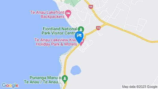 Te Anau Lakeview Kiwi Holiday Park & Motels Map