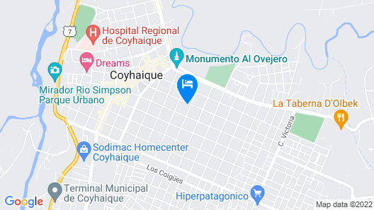 Abriga Bed and Breakfast Map