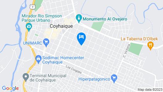 Apart Hotel Español Coyhaique Map
