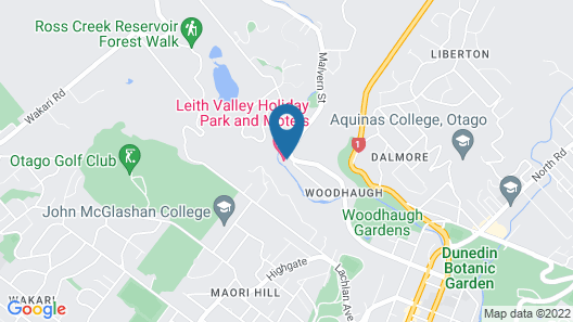 Leith Valley Holiday Park & Motels Map