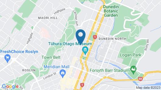Dunedin Motel and Villas Map