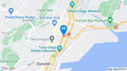 The Victoria Hotel Dunedin Map